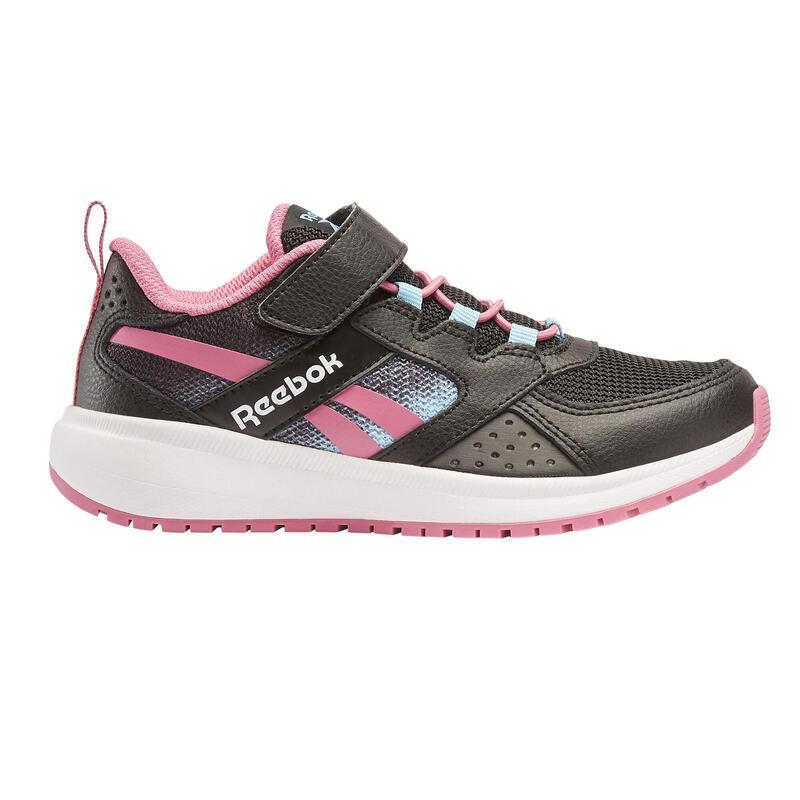 Chaussures de marche enfant Reebok Road Supreme noir/rose velcro