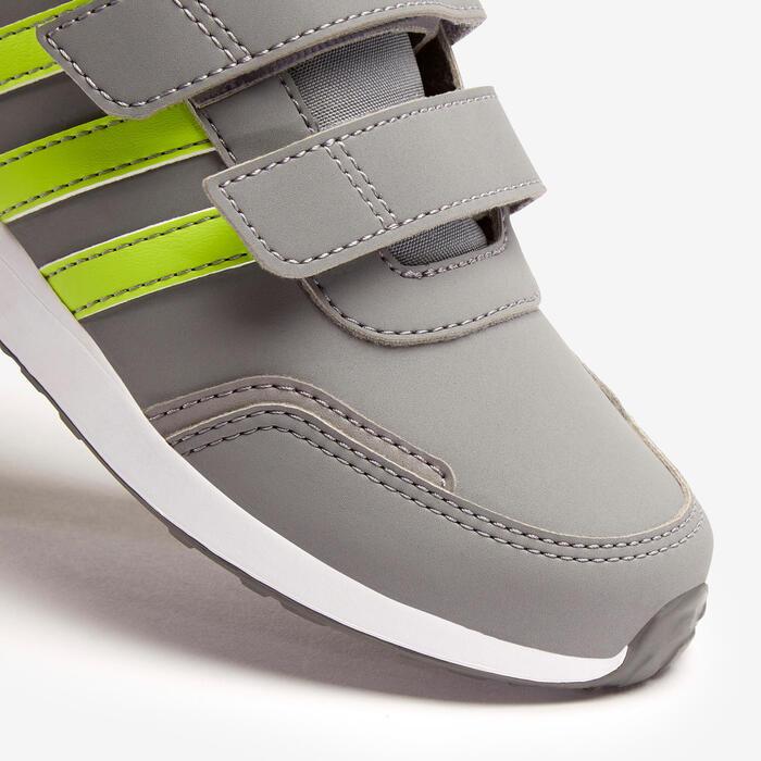 Adidas Switch kid's walking shoes grey/yellow velcro