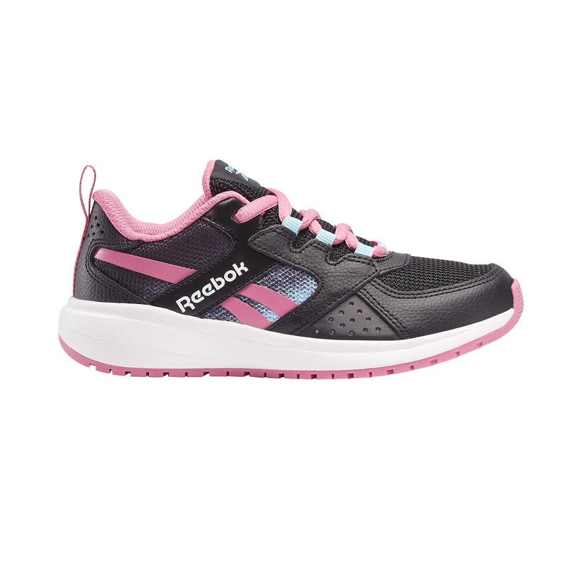 Chaussures de marche enfant Reebok Road Supreme noir/rose lacets