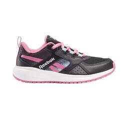 Scarpe stringhe camminata bambino Reebok ROAD SUPREME nero-rosa
