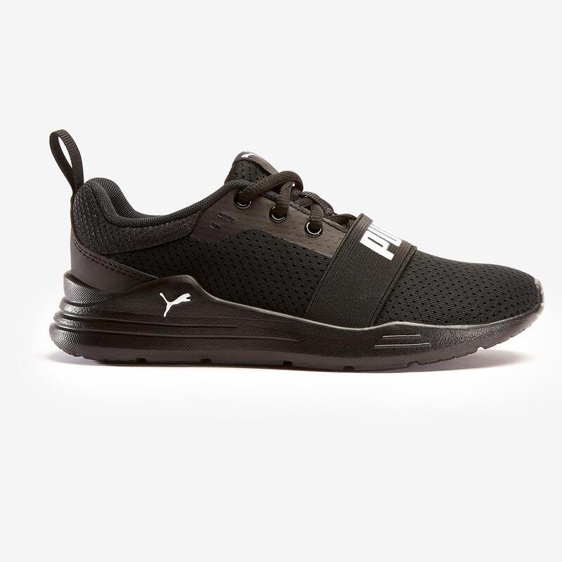 Chaussures marche enfant Puma Wired noir lacets