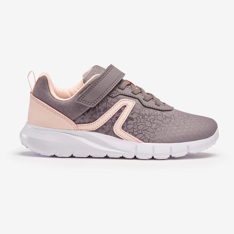 Kindersneakers voor wandelen Soft 140 grijs/roze
