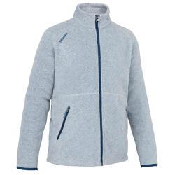 女孩款節能設計保暖刷毛航海外套100 - 灰色