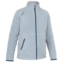 Girls' warm eco-design fleece sailing jacket 100 - Grey
