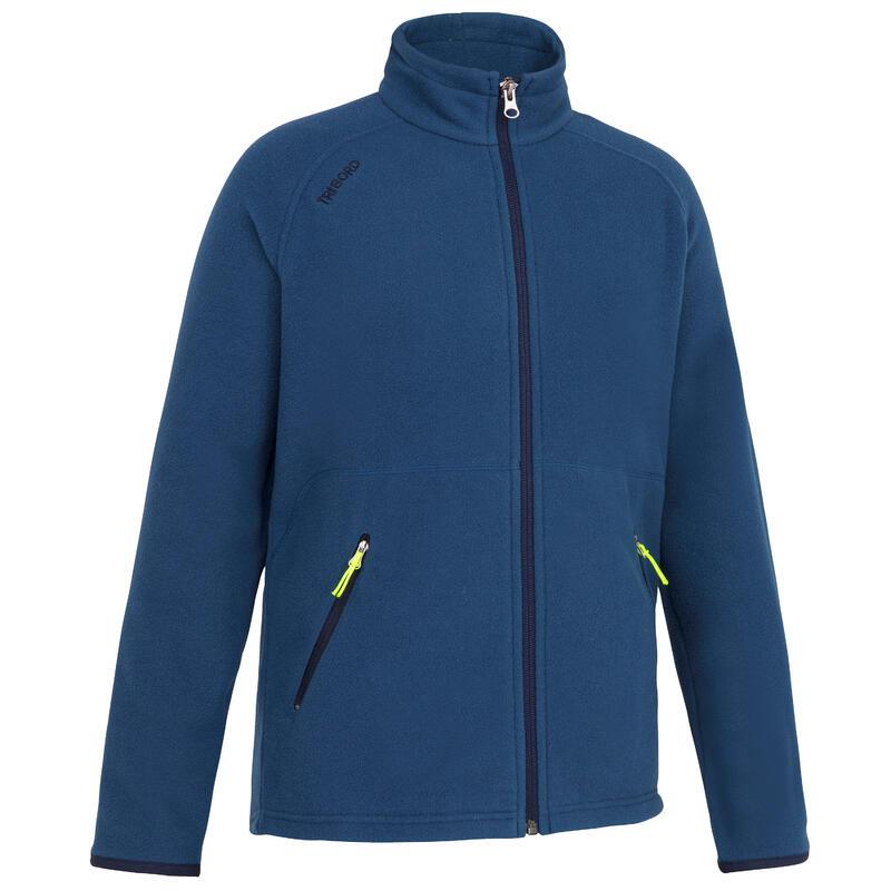 Kids warm eco-design fleece sailing jacket 100 - Ocean blue