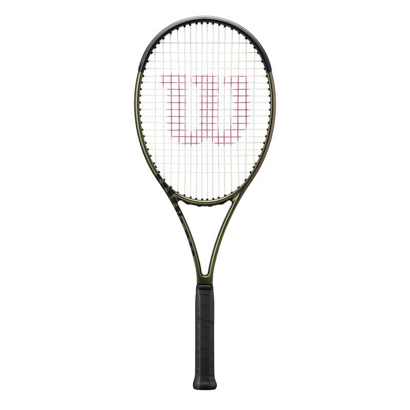 Raquette de tennis Adulte Wilson BLADE 98 16x19 V8.0 Verte / Cuivre non cordée