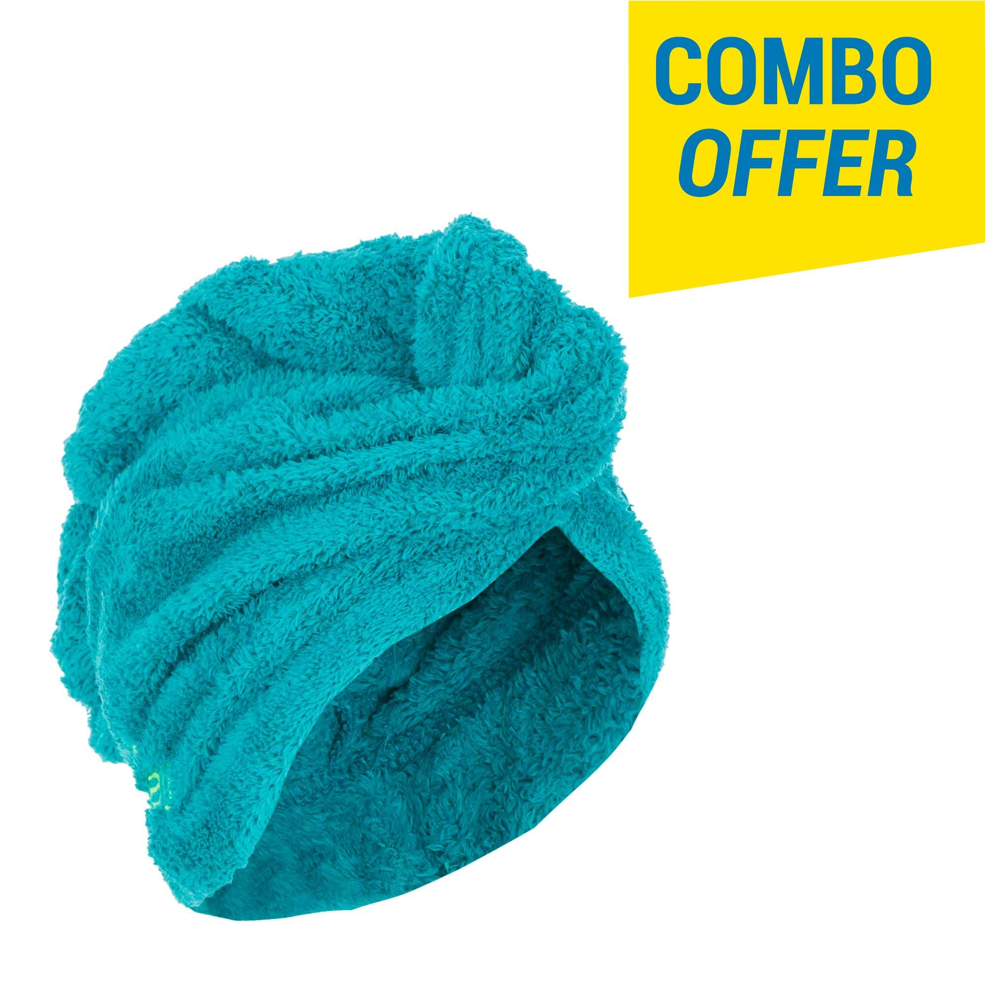 Swimming Soft Hair Towel - Sea Green