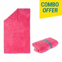 Soft Microfiber Towel Size L 80 x 130 cm - Pink