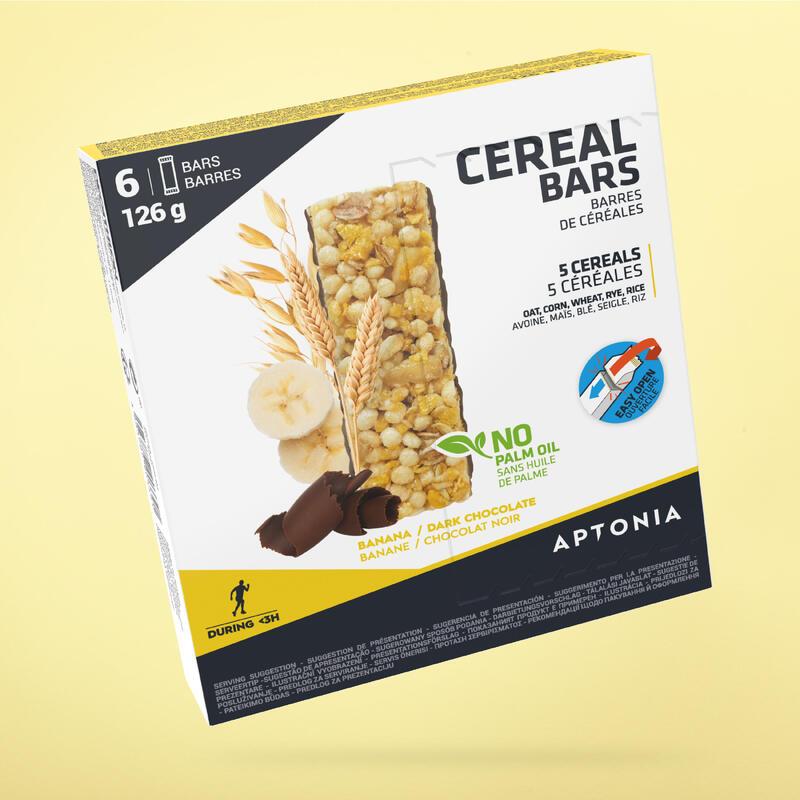 Barretta energetica ai cereali banana/cioccolato 6x21 g