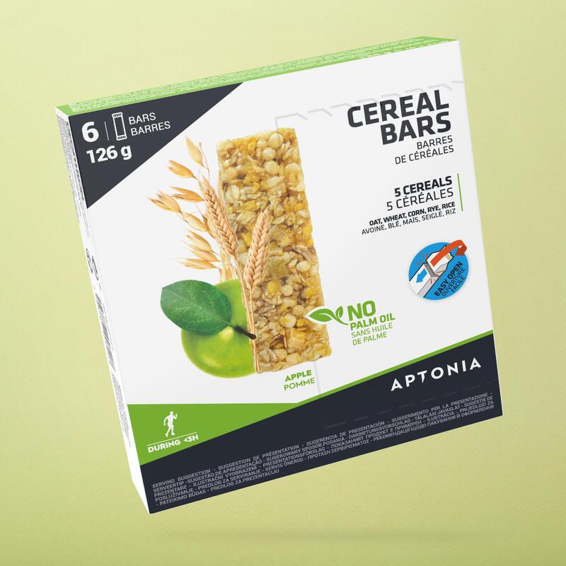 Barretta energetica ai cereali e mela 6x21 g