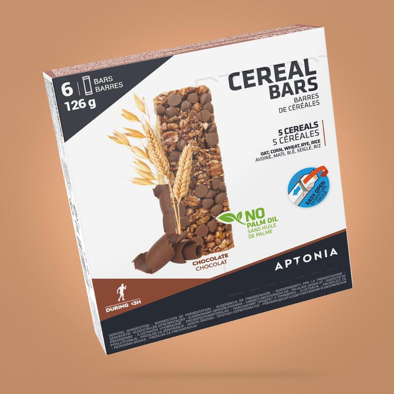 Barretta energetica ai cereali e cioccolato 6x21 g