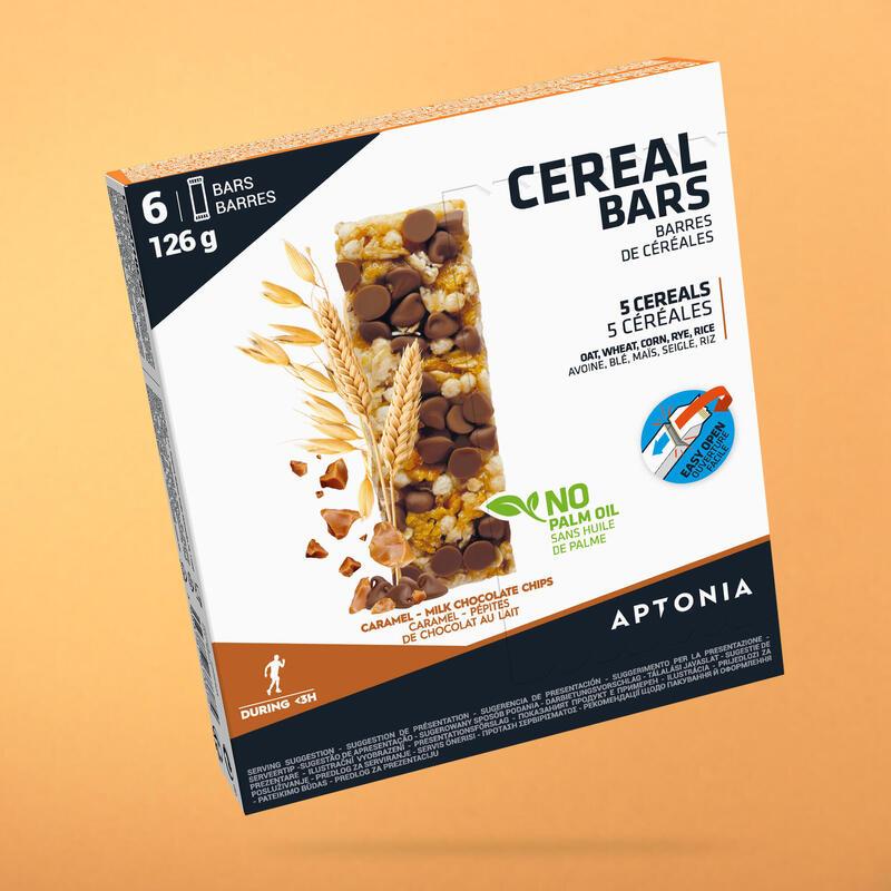 BARRE ENERGETIQUE AUX CEREALES CHOCOLAT/CARAMEL 6X21G