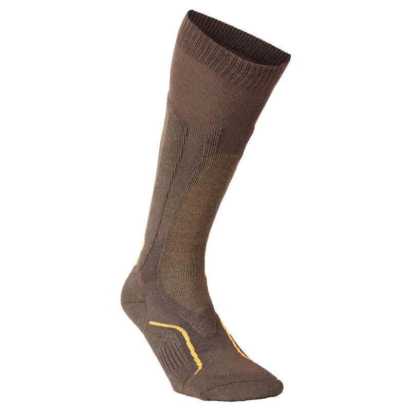 PONOŽKY A PŘÍSLUŠENSTVÍ K LOVECKÝM BOTÁM Myslivost a lovectví - PODKOLENKY STAT 500 2 PÁRY SOLOGNAC - Myslivecká obuv a ponožky