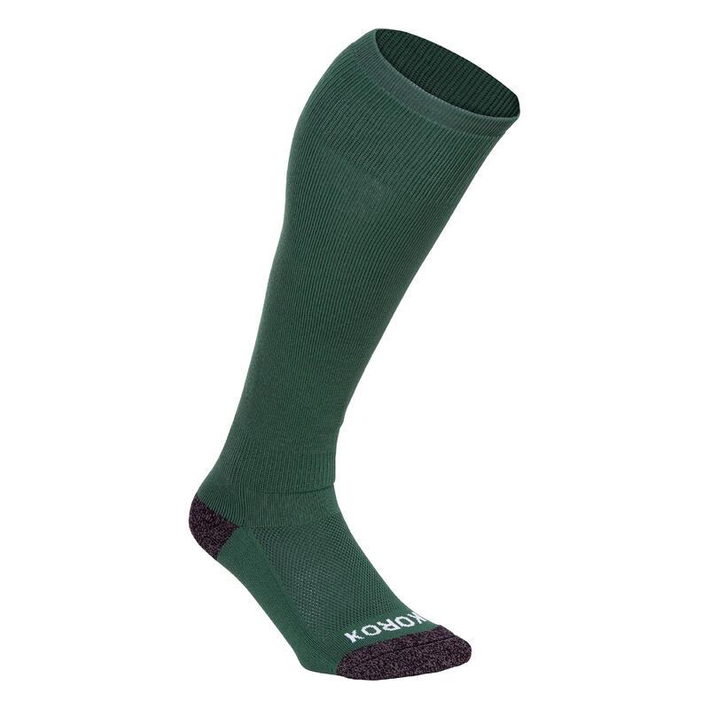 Chaussettes de hockey sur gazon adulte FH500 vert
