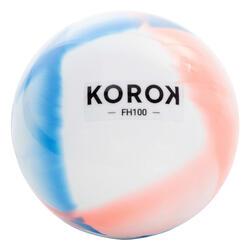 Palla hockey su prato FH100 blu-corallo