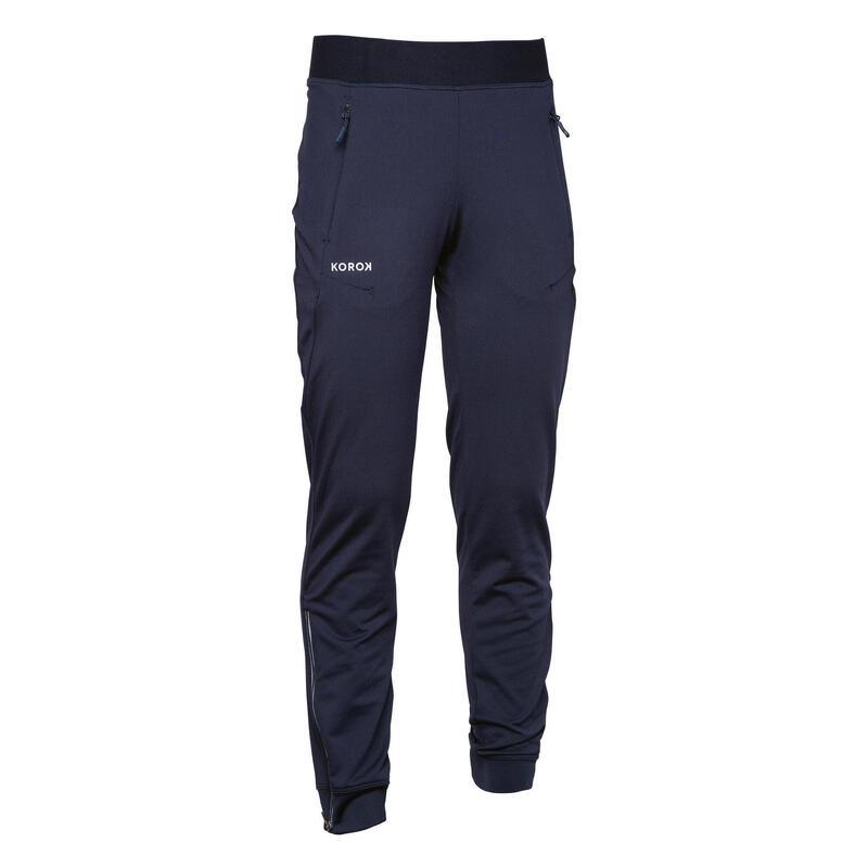 Pantalon de training de hockey sur gazon enfant FH900 bleu marine