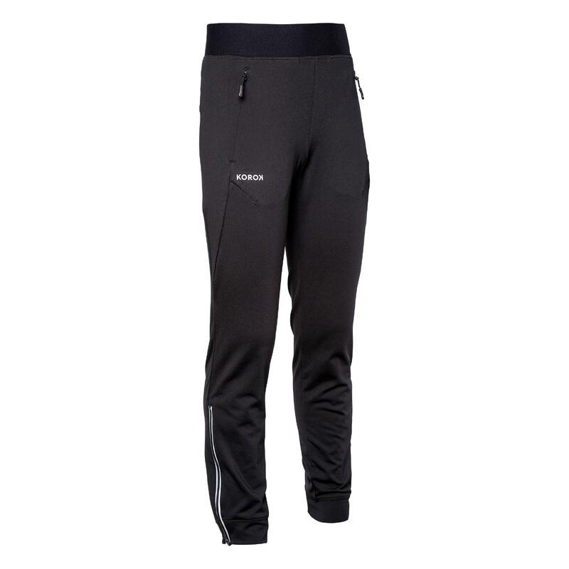 Pantalon de training de hockey sur gazon enfant FH900 noir
