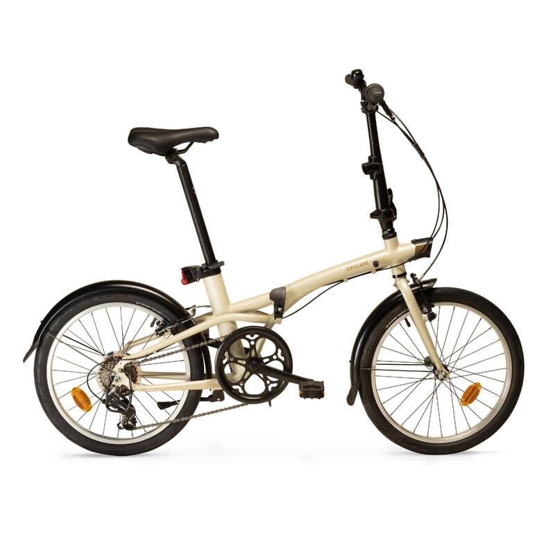 SKLÁDACÍ KOLA Cyklistika - SKLÁDACÍ KOLO TILT 500 BÉŽOVÉ BTWIN - Jízdní kola
