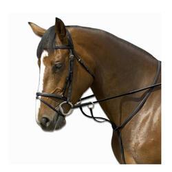Gamarra com Argolas para Cavalo Equitação SCHOOLING Preto