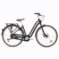 Bici città ELOPS 900 telaio basso nera