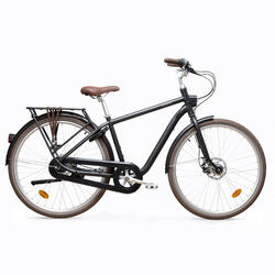 Bici città ELOPS 900 telaio alto nera