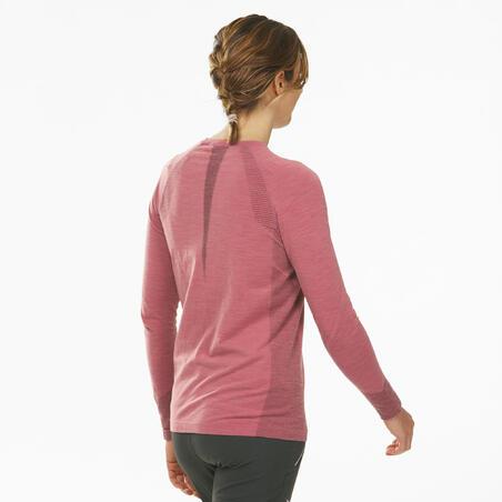 Women's Long Sleeve Seamless Wool T-Shirt - ALPINISM