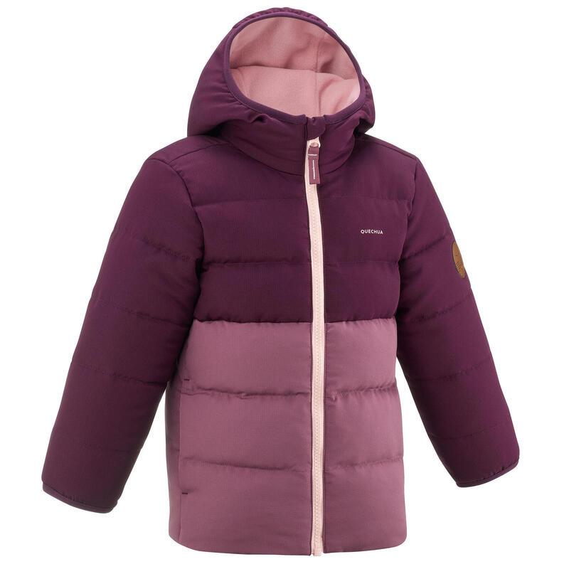 Dětská turistická prošívaná bunda fialová 2−6 let