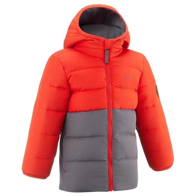 Doudoune de randonnée orange et grise - enfant 2-6 ans