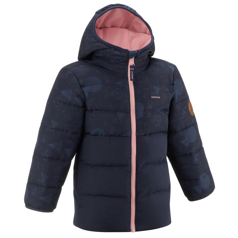 Dětská turistická prošívaná bunda tmavě modrá 2−6 let