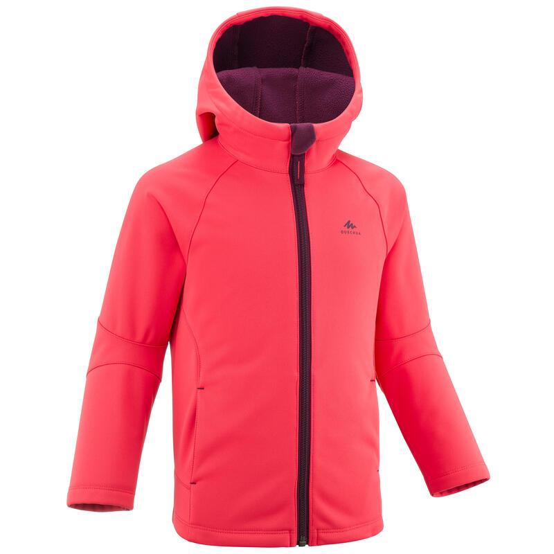 Softshell jas voor wandelen kinderen MH550 roze 2- 6 jaar