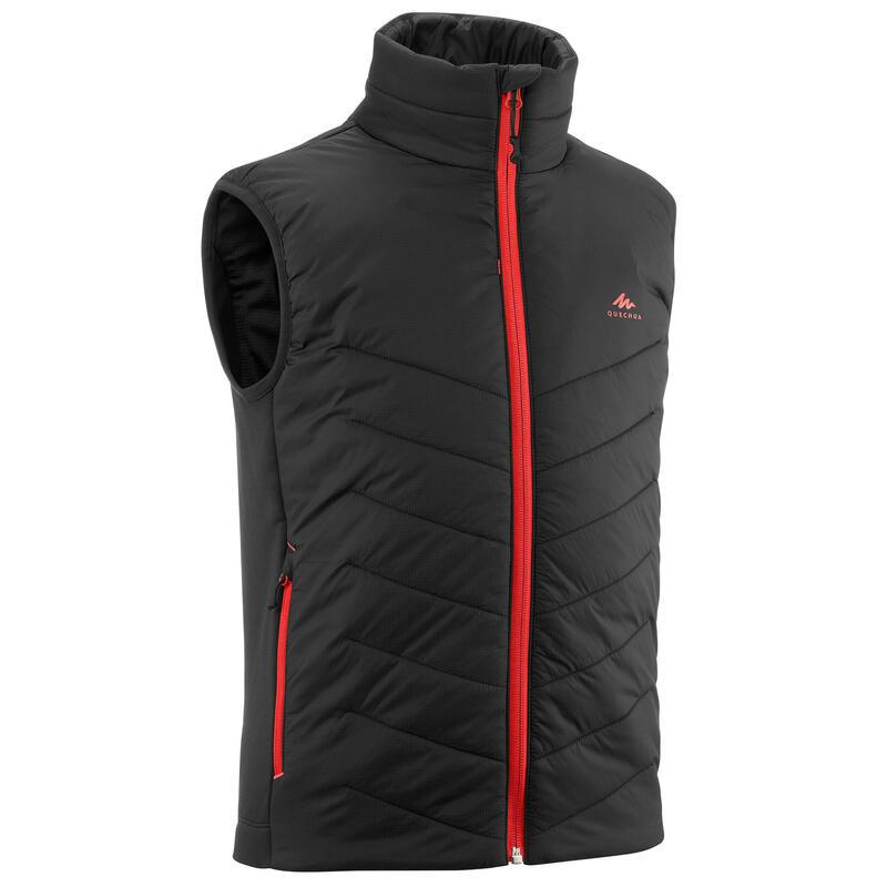 Kids' 7-15 Years Hiking Hybrid Padded Sleeveless Jacket - black