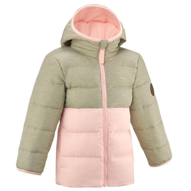 Doudoune de randonnée rose et beige - enfant 2-6 ans
