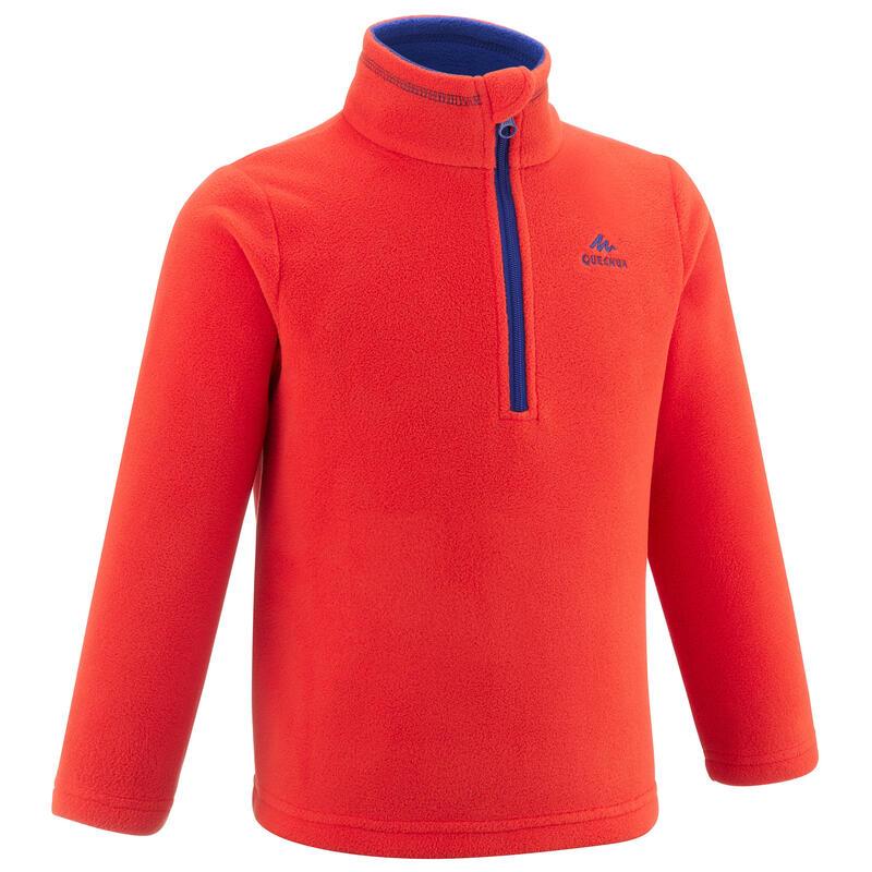 Kids' Hiking Fleece - MH100 Aged 2-6 - Orange