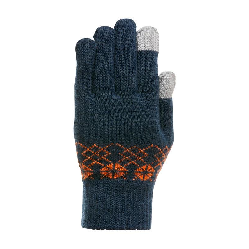 Mănuși inserții tactile drumeție pe zăpadă SH100 Albastru Copii 4-14 ani