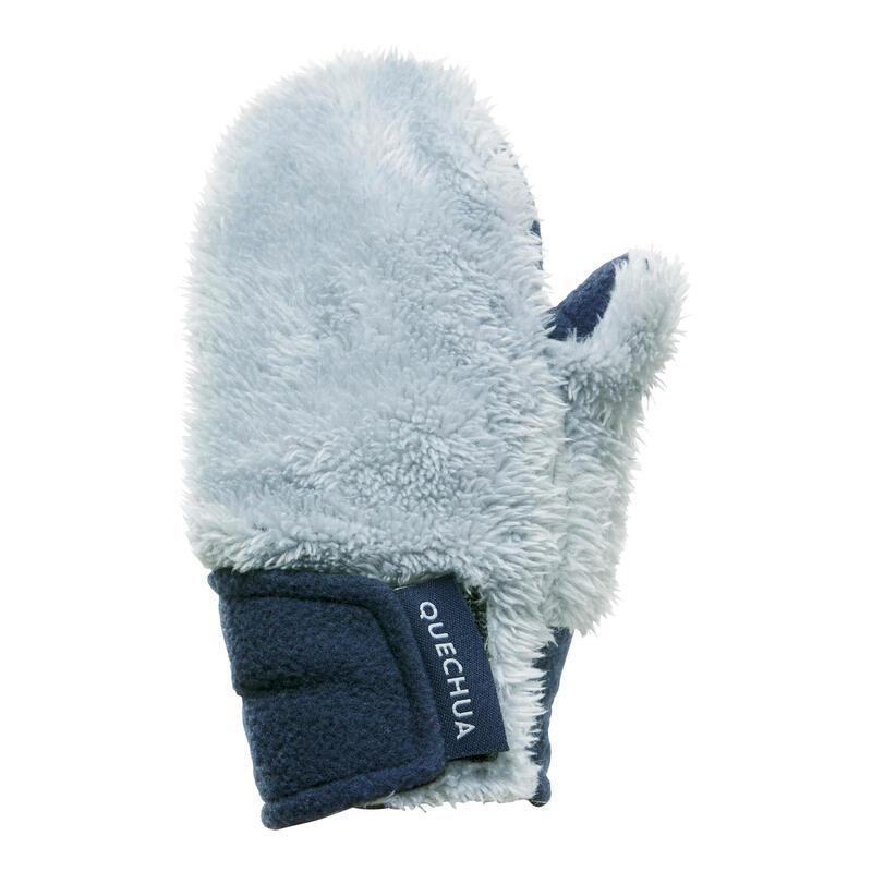 Mănuși cu 1 deget din Polar Drumeție pe zăpadă SH100 Gri Copii 18 luni - 4 ani