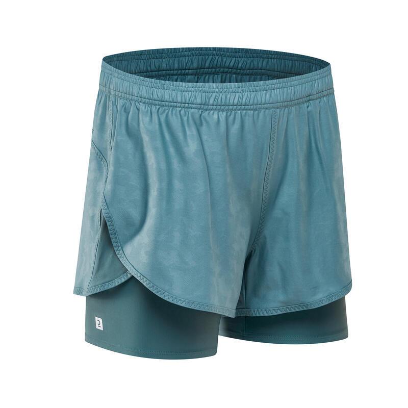 2合1有氧健身訓練短褲