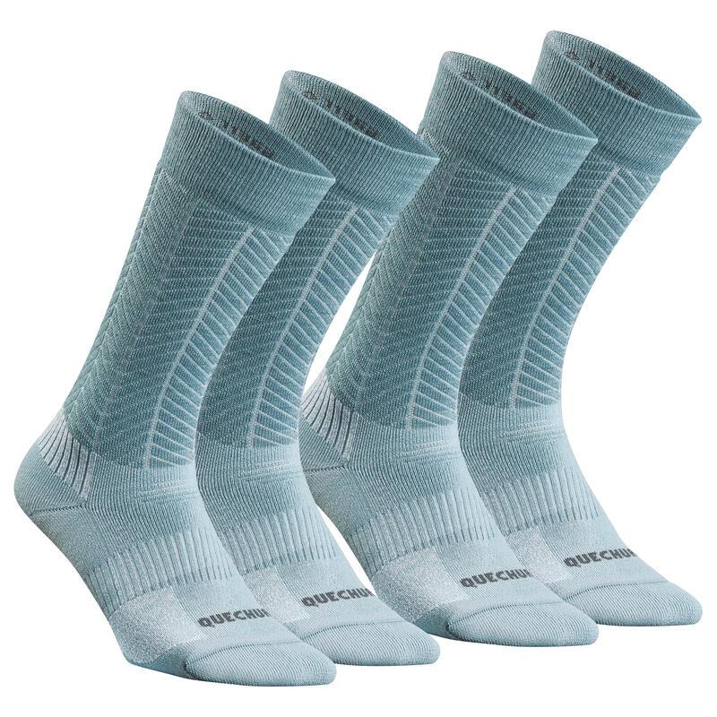 Chaussettes chaudes de randonnée - SH500 U-WARM MID - adulte X 2 paires