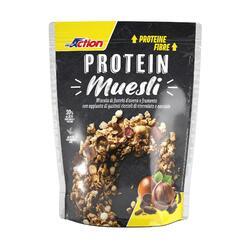 Muesli proteico Proaction gusto nocciola cioccolato 30g di proteine su 100g