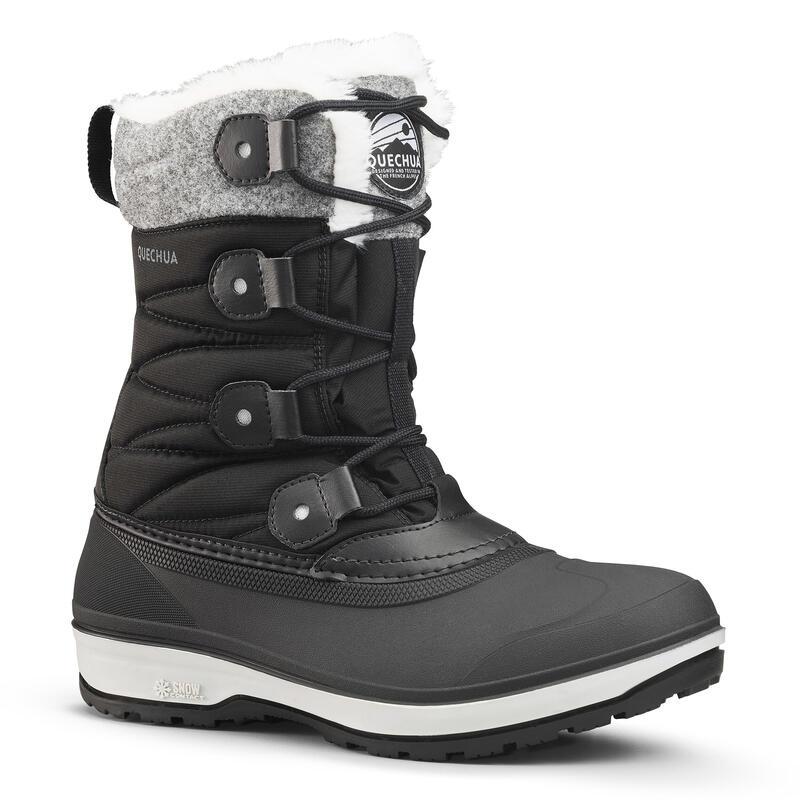 Cizme impermeabile călduroase iarnă/ drumeţie pe zăpadă SH500 X-WARM Gri Damă