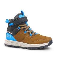 Kids' Warm, Waterproof Hiking Boots SH100 Warm Leather Riptab 7 - 2