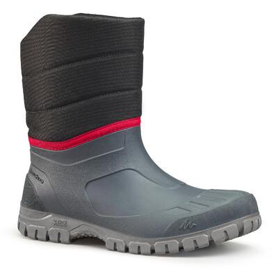 Botas de Nieve y Apreski Impermeables Hombre Quechua SH100 Warm Grs Caña Media