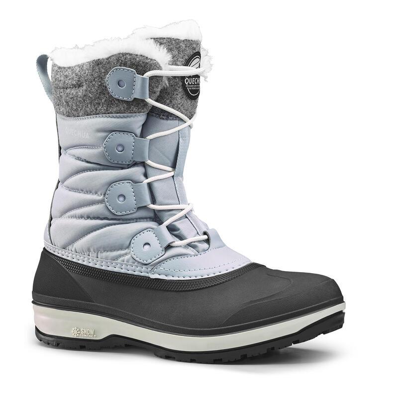 Cizme înalte impermeabile călduroase iarnă/drumeţie zăpadă SH500 X-WARM Gri Damă