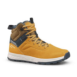 Kids' Warm Waterproof Hiking Boots SH100 Warm Leather Laces Size 2.5 - 5
