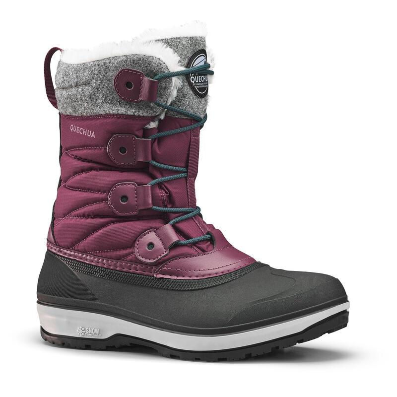 Cizme impermeabile călduroase iarnă/ drumeţie pe zăpadă SH500 X-WARM Bordo Damă
