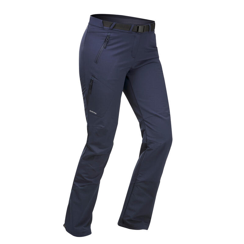 Women's Warm Water-repellent Stretch Hiking Trousers - SH500 X-WARM