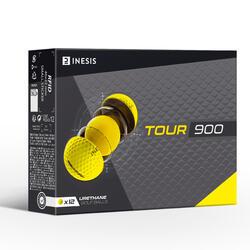 Bola de Golf Tour 900 Amarelo (Conjunto de 12)