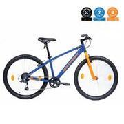 ROCKRIDER ST 30 Unisex Trail & Urban Riding Cycle - Blue & Fluo Orange