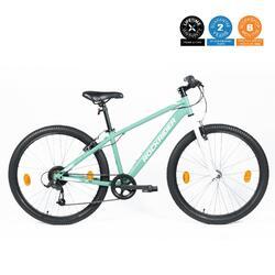 ROCKRIDER ST 30 Unisex Trail & Urban Riding Cycle - Pale Mint & White