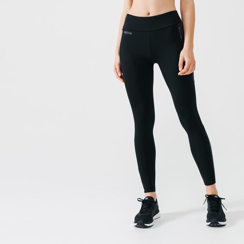 Warme hardlooplegging voor dames Run Warm+ zwart