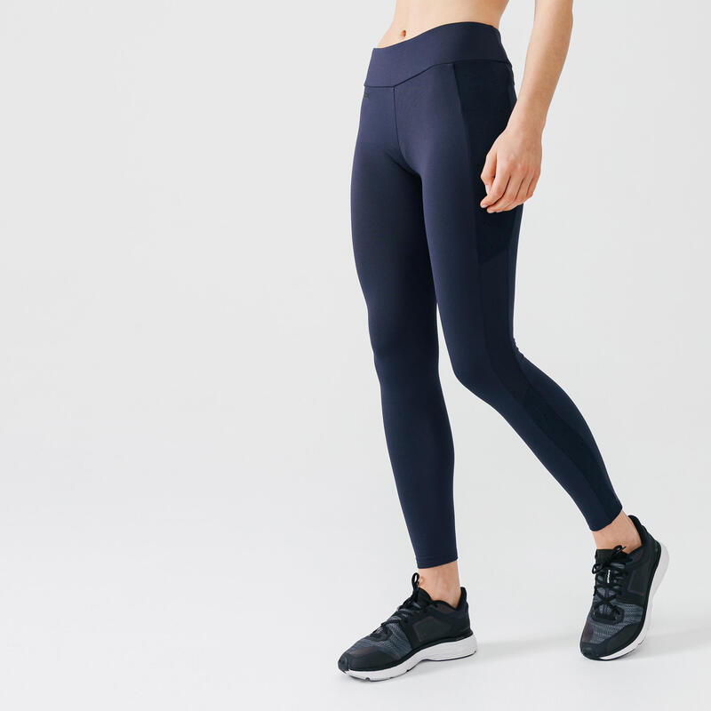 Mallas Largas Running Run Warm+ Mujer Azul Cálidas